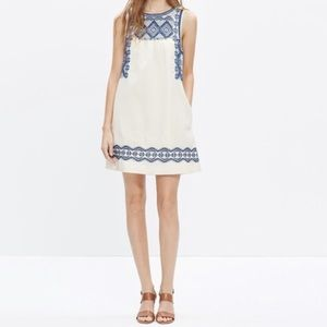 Madewell Off-White Embriodered Dress - Small